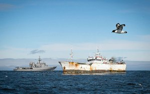 HMNZS Wellington intercepts suspected toothfish poachers