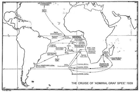 Graf Spee Cruise, 1939
