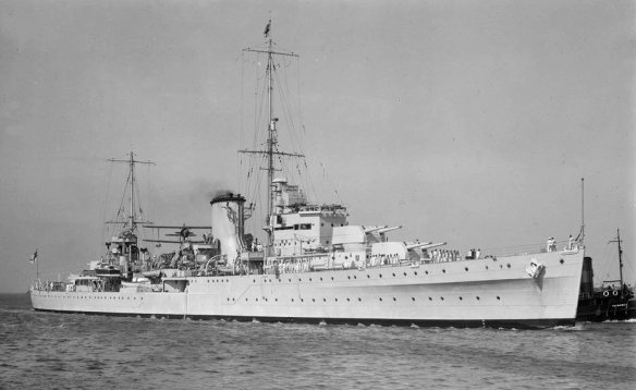 HMNZS Achilles,photo, State Library of Victoria - Allan C. Green collection of glass negatives.