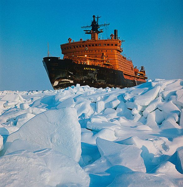 The nuclear-powered icebreaker Arktika in the Kara Sea. RIA Novosti archive, image #186141