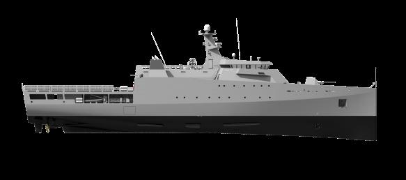 Damen 85 meter Offshore Patrol Vessel, 1800