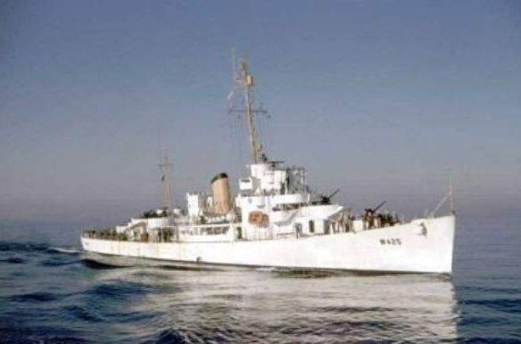 USS Lowe (DE-325) as USCGC Lowe (WDE-425)